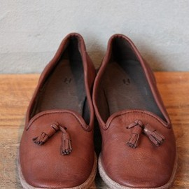 Hender Scheme - tassel shoes #dark brown