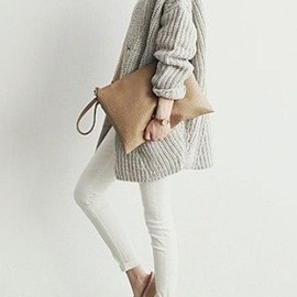gray & white & beige
