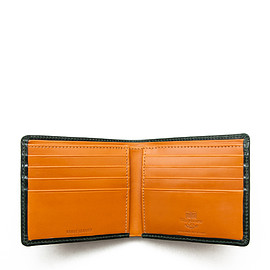 Whitehouse Cox - ホワイトハウスコックス | S8772 NOTE CASE / BRIDLE 2TONE(GREEN/NEWTON)