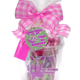 Baby Ribbon - Cup Candies with Bunny