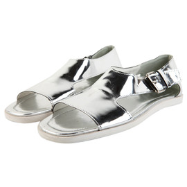 STYLENANDA - Open-toe Enamel Sandals