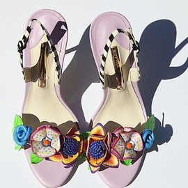 Sophia Webster - Sophia Webster Lilico 3D Floral Leather Sandals
