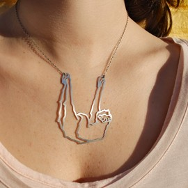 Tiny Stainless Humpback Whale Necklace