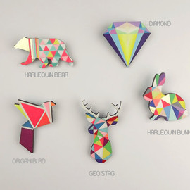 SketchInc - Geometric Brooch