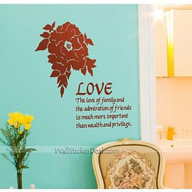 wallstickerdeal.com - Moran Love Flower Wall Stickers