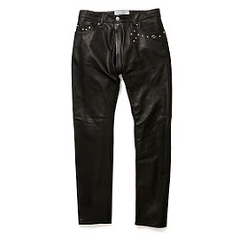 PEEL&LIFT - studs leather trousers