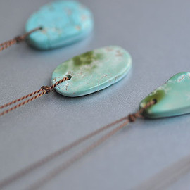 Margaret Solow - Large Turquoise Drop Necklace