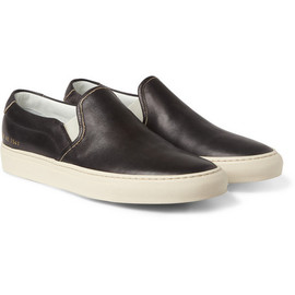 Common Projects - Common Projects Leather Slip-On Sneakers