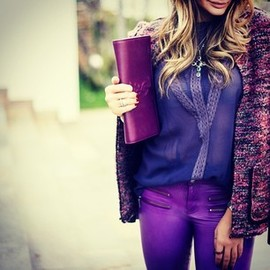 YVES SAINT-LAURENT - purple/style