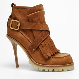 Tory Burch - Fall 2010 Buckled fringe boot