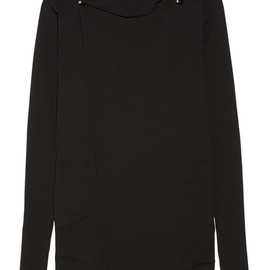 RICK OWENS - Hooded cotton wrap sweater