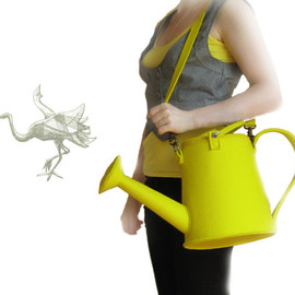 krukrustudio - Yellow Felt Watering Pot Bag