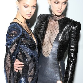 Versace - Backstage at Versace Fall Couture 2013