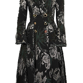 Erdem - FW2016 Baxter double-breasted metallic jacquard coat