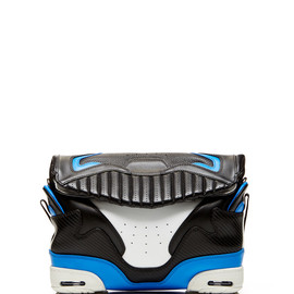 ALEXANDER WANG - SS2015 Small Sneaker Bag In Black And Airforce