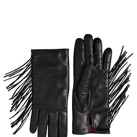 VALENTINO - Pre-Fall 2015 FRINGED NAPPA LEATHER GLOVES