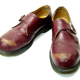 Dr.Martens - Cherry red steel toe belt leather boots