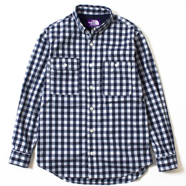 THE NORTH FACE PURPLE LABEL - COOLMAX® Gingham Stretch B.D Shirt
