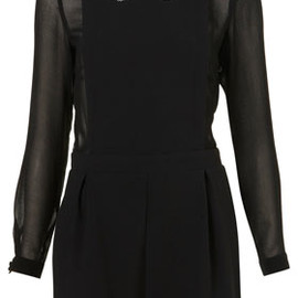 TOPSHOP - Sheer Sleeve Playsuit