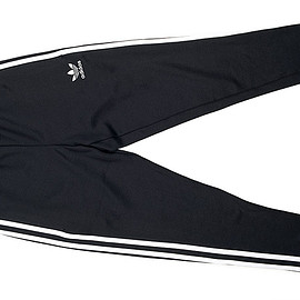 adidas Originals - Open Hem Super Star Track Pant-Black×White