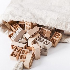 Lego-Brocks made from Wood