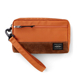 "HEAD PORTER - ""JACKSON"" WALLET POUCH ORANGE"