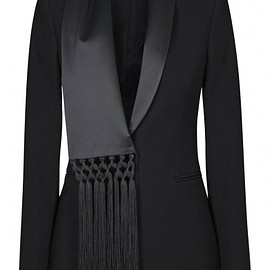 Altuzarra Fox Fur Trim Overcoat in Black