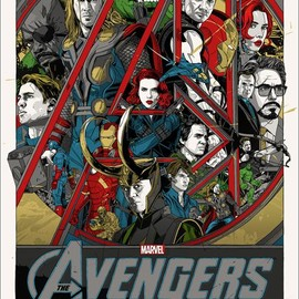 Marvel's The Avengers poster by Tyler Stout for Mondo