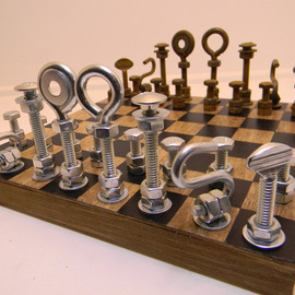 RambutanRed - Hardware Chess Set