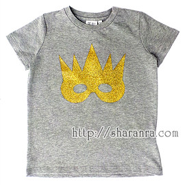 beau loves - crown gold mask t-shirt