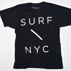 SATURDAYS SURF - Surf Slash T-Shirt / BLACK