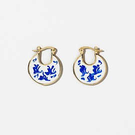 Ana Luisa Earrings - HANA MARBLE BLUE