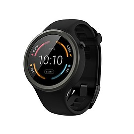 Motorola - Moto 360 Sport - 45mm, Black