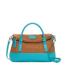 kate spade NEW YORK - COBBLE HILL STRAW SMALL LESLIE (blue×straw)
