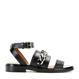 GIVENCHY - Chain-embellished leather sandals
