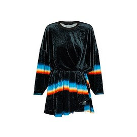 LOUIS VUITTON - Prism Print Jersey Velour Dress