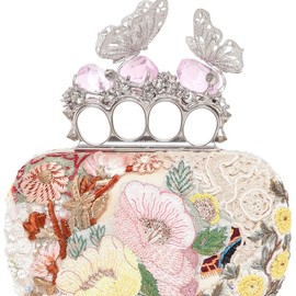 Alexander McQueen - EMBROIDERED BUTTERFLY KNUCKLEBOX CLUTCH