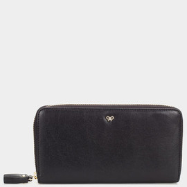ANYA HINDMARCH - Zip Round Wallet - Black