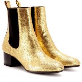 Dries Van Noten - Metallic-leather ankle boots