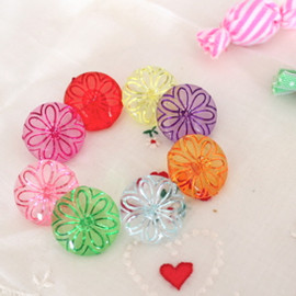 Curly Collection - Flower Drop Buttons♪L size