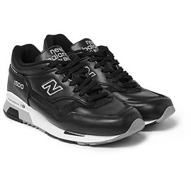 New Balance - 1500 Nubuck-Trimmed Leather Sneakers
