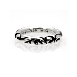 chrome hearts - scroll band ring