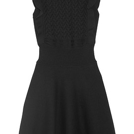 Prada - Ruffled wool and cotton-blend mini dress