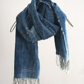 LILY1ST VINTAGE - 1980-90's vintage african indigo stole