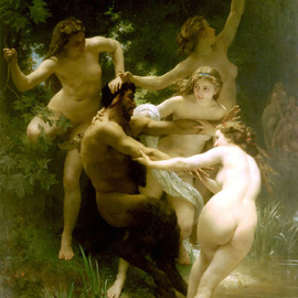 Adolphe-William Bouguereau - Nymphs and Satyr