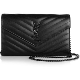 SAINT LAURENT - Monogramme textured-leather shoulder bag
