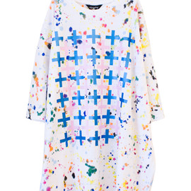 STARSTYLING - POLLO CROSSES BIG TEE WHITE / PINK / BLUE