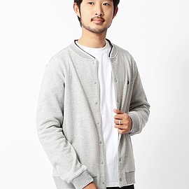 FRED PERRY - FRED PERRY×BEAMS / 別注 裏毛クルーカーディガン