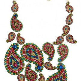 Tatty Devine - Paisley Rose Multi Droplet Necklace