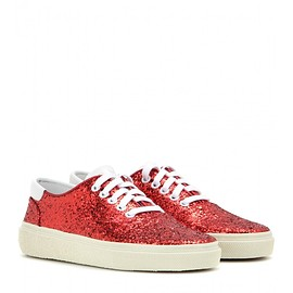 SAINT LAURENT - Glitter embellished sneakers